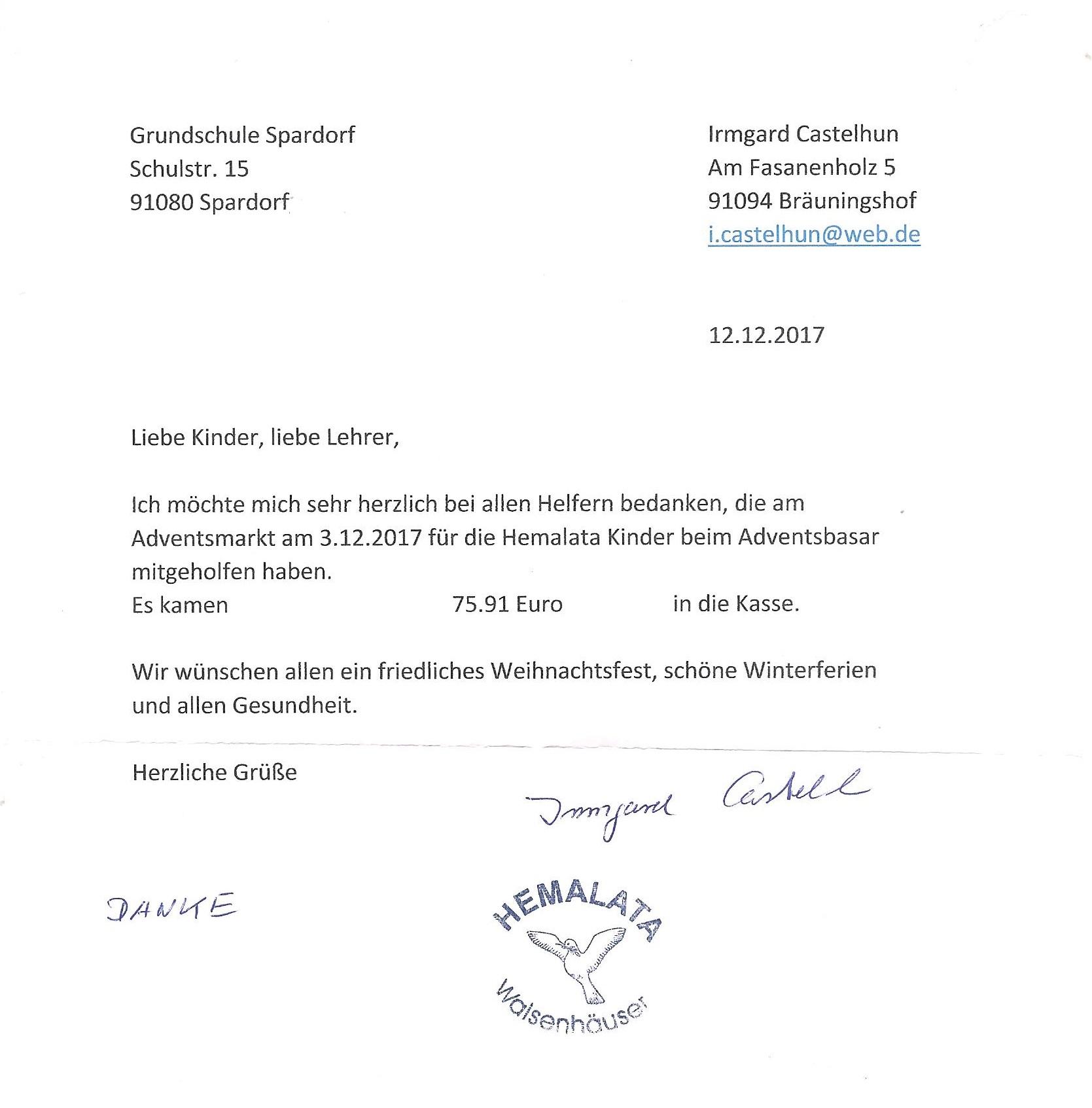 Schule Grundschule Spardorf